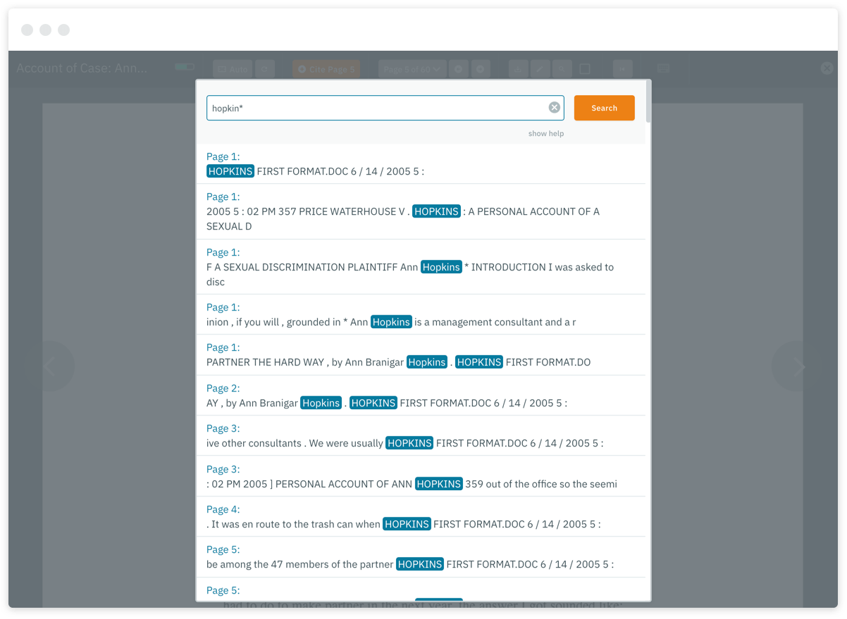 Advanced full-text searching helps you find exactly what you're looking for.