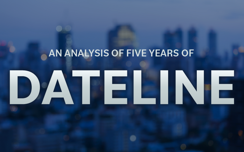 An Analysis of Five Years of Dateline